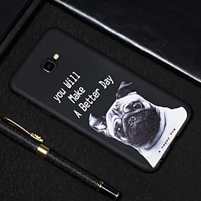 voordelige Galaxy J5(2017) Hoesjes / covers-hoesje Voor Samsung Galaxy J7 Prime / J7 (2017) / J5 Prime Mat / Patroon Achterkant Hond Zacht TPU