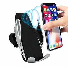 abordables monté sur véhicule-S5 chargeur sans fil capteur automatique chargeur sans fil pour iphone 11 pro max xs max xr x samsung s10 s9 intelligent infrarouge rapide support de téléphone de charge