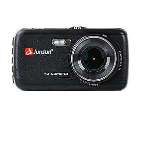 Недорогие Видеорегистраторы для авто-junsun h7c 1296p hd с двумя объективами автомобильный видеорегистратор 170 градусов широкоугольный 1/3 дюйма цветной смос 4-дюймовый ips видеорегистратор с ночным видением / g