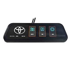 voordelige Auto-elektronica-1080p streaming media achteruitkijkspiegel auto dvr 170 graden groothoek 10 inch ips dash cam autorecorder voor toyota