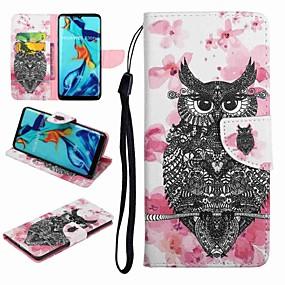 Недорогие Чехлы и кейсы для Huawei серии Y-Кейс для Назначение Huawei Honor 9 / Honor 8 / Huawei Honor 7 Бумажник для карт / со стендом / Флип Чехол Животное / Мультипликация Твердый Кожа PU