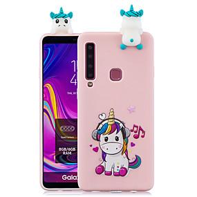 olcso Galaxy A7(2017) tokok-Case Kompatibilitás Samsung Galaxy A6 (2018) / Galaxy A7(2018) / A3 (2017) Minta Fekete tok Rajzfilm Puha TPU