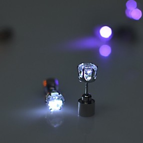 お買い得  ホリデー&パーティー デコレーション-2ピースled成長ライトアップ明るいダンスクリスマスハロウィンイヤリング耳スタッドイヤリング発光グロー