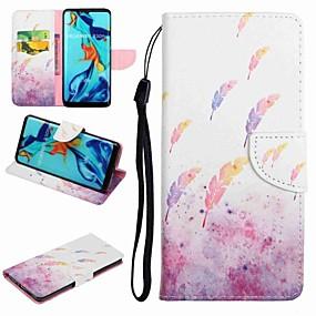 Недорогие Чехлы и кейсы для Huawei Honor-Кейс для Назначение Huawei Honor 9 / Honor 8 / Huawei Honor 7 Бумажник для карт / со стендом / Флип Чехол Мультипликация / Перья Твердый Кожа PU