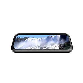 voordelige Auto-elektronica-ou shilan v1 1080p streaming media achteruitkijkspiegel auto dvr 170 graden groothoek 10 inch ips dash cam met nachtzicht auto-recorder