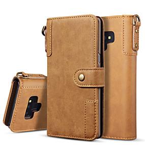 Недорогие Чехлы и кейсы для Galaxy Note 8-Кейс для Назначение SSamsung Galaxy Note 9 / Note 8 Кошелек / Флип / Магнитный Чехол Однотонный Твердый Кожа PU