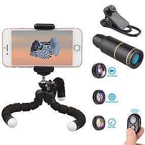 olcso Mobiltelefon kamera-Mobiltelefon Lens Halszem-lencse / Hosszú gyújtótávolságú lencse / Nagylátószögű lencse üveg / Alumínium ötvözet 10X és felett 32 mm 3 m 9 ° Lencse és állvány / Új design