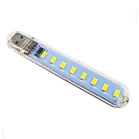رخيصةأون مصابيح ليد مبتكرة-1PC الصمام ليلة الخفيفة / كتاب ضوء أبيض دافئ / أبيض كول USB سهل الحمل / مع منفذ أوسب