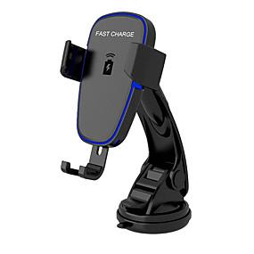 Недорогие Автомобильные зарядные устройства-беспроводное автомобильное зарядное устройство, автоматическое крепление ци автомобильное крепление для быстрой зарядки, держатель на приборной панели ветрового стекла