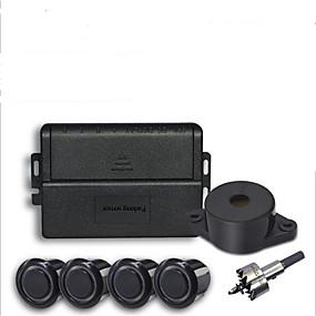 cheap Car Electronics-Car Parking Sensor with 4 Sensors Buzzer 22mm Kit Reverse Backup Radar Sound Alert Indicator Probe System 12V