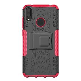 Недорогие Чехлы и кейсы для Huawei серии Y-Кейс для Назначение Huawei Huawei P Smart 2019 / Y9 (2018)(Enjoy 8 Plus) / Huawei Y7 Pro (2019) Защита от удара / со стендом Кейс на заднюю панель броня Твердый ПК