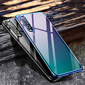 voordelige Galaxy A7(2016) Hoesjes / covers-hoesje Voor Samsung Galaxy A5(2018) / A6 (2018) / Galaxy A7(2018) Beplating Achterkant Transparant Zacht TPU