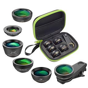 olcso Mobiltelefon kamera-Mobiltelefon Lens Lencse szűrővel / Halszem-lencse / Hosszú gyújtótávolságú lencse üveg / Alumínium ötvözet 2X 25 mm 15 m 210 ° Kreatív / Új design