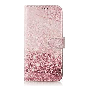 voordelige Galaxy S7 Hoesjes / covers-hoesje Voor Samsung Galaxy S9 / S9 Plus / S8 Plus Kaarthouder / Patroon Volledig hoesje Marmer Hard PU-nahka