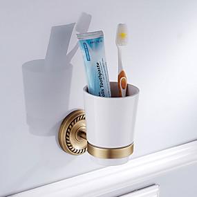 رخيصةأون أدوات الحمام-حاملة فرشاة الأسنان تصميم جديد أنتيك نحاس / خزفي 6PCS - حمام الفندق مثبت على الحائط