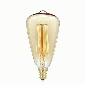 voordelige LED-gloeilampen-1pc 40 W E14 ST48 Warm wit 2300 k Retro / Dimbaar / Decoratief Gloeilamp Vintage Edison Gloeilamp 220-240 V