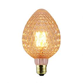 olcso Hagyományos izzó-1db 40 W E26 / E27 1800-2200 k Izzólámpa Vintage Edison izzó 220-240 V / 110-130 V