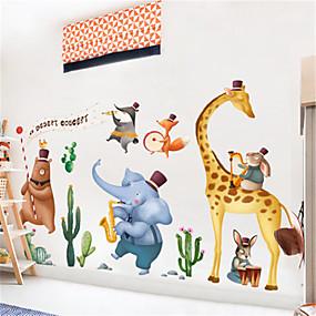 رخيصةأون ملصقات ديكور-الإبداعية الشمال الديكور الحيوان الجدار ملصق الكرتون للأطفال غرفة نوم الروضة ممر ذاتية اللصق اللوحة