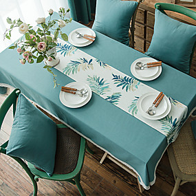 رخيصةأون شرشفات الطاولة-كلاسيكي ألياف البوليستر مربع قماش الطاولة لون سادة الجدول ديكورات