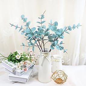 رخيصةأون أزهار اصطناعية-زهور اصطناعية 3 فرع كلاسيكي أوروبي أسلوب بسيط نباتات الزهور الخالدة أزهار الطاولة