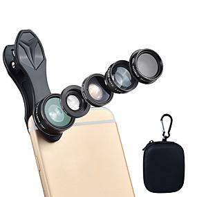 olcso Mobiltelefon kamera-Mobiltelefon Lens Lencse szűrővel / Halszem-lencse / Hosszú gyújtótávolságú lencse üveg / Alumínium ötvözet / ABS + PC 2X 25 mm 10 m 198 ° Kreatív / Szeretetreméltő / Vicces