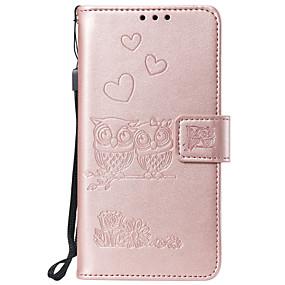 cheap LG-Case For LG G3 G4 G5 G6 STYL04 STYL05 LG G7 K4 2017k8 2017 K10 2017 K10 2018 LG K40 V30 K8 2018 K50 Q60 Card Holder Flip Pattern Full Body Cases owl animal heart PU Leather TPU