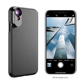 olcso Mobiltelefon kamera-Mobiltelefon Lens Hosszú gyújtótávolságú lencse / Nagylátószögű lencse üveg / ABS + PC 2X 10 mm 0.01 m 110 ° Lencse tokkal