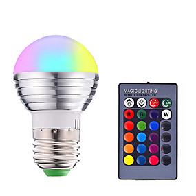 abordables Ampoules Intelligentes LED-1pc 3 W Ampoules LED Intelligentes 200-250 lm E14 E26 / E27 1 Perles LED SMD 5050 Elégant Intensité Réglable Commandée à Distance RGBW 85-265 V