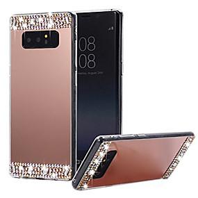 Недорогие Чехлы и кейсы для Galaxy Note 8-Кейс для Назначение SSamsung Galaxy Note 9 / Note 8 Зеркальная поверхность Кейс на заднюю панель Однотонный Твердый ПК / силикагель