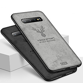 voordelige Galaxy S7 Edge Hoesjes / covers-hoesje Voor Samsung Galaxy S9 / S9 Plus / S8 Plus Schokbestendig / Reliëfopdruk / Patroon Achterkant dier / 3D Cartoon Zacht TPU / Oxfordstof