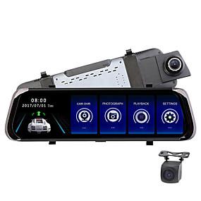 voordelige Auto DVR's-F800 1080p HD Auto DVR 170 graden Wijde hoek CMOS 10 inch(es) IPS Dash Cam met Nacht Zicht / Parkeermodus / Continu-opname Autorecorder