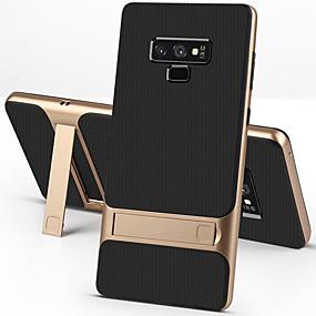 Недорогие Чехлы и кейсы для Galaxy Note 8-Кейс для Назначение SSamsung Galaxy Note 9 / Note 8 Защита от удара / со стендом Кейс на заднюю панель Однотонный Твердый ТПУ / ПК