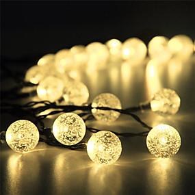 levne LED pásky-15 m Světelné řetězy 100 LED diody 1Nastavte montážní konzolu 1 sada Teplá bílá R GB Bílá Vánoční svatební dekorace Zasilana energią słoneczną