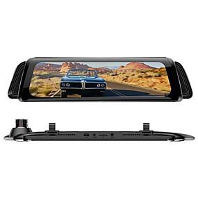 Недорогие Видеорегистраторы для авто-H11A 1080p Автомобильный видеорегистратор 170° Широкий угол 10 дюймовый IPS Капюшон с Ночное видение / G-Sensor / Режим парковки Автомобильный рекордер
