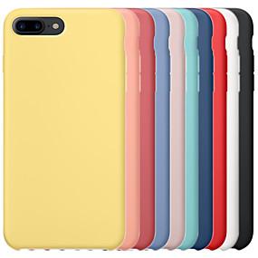 voordelige iPhone 11 Pro Max hoesjes-hoesje voor apple iphone 6 / iphone 6 plus iphone 6s iphone7 iphone8 iphone7plusiphone8plus iphone x / xs / xsmas schokbestendige achterkant effen gekleurde harde pc / silicagel voor