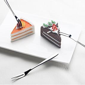 olcso Evőeszközök-gyümölcs villa rozsdamentes acél torta hold torta desszert villát otthon napi gyümölcs jel 2db