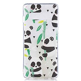 voordelige Galaxy S7 Edge Hoesjes / covers-hoesje Voor Samsung Galaxy S9 / S9 Plus / S8 Plus Transparant / Patroon Achterkant Panda Zacht TPU