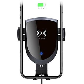 abordables Chargeurs de Voiture-support de chargeur sans fil motorisé de support de chargeur de voiture sans fil d'évent avec 7.5w / 10w charge rapide fixant le support de chargeur de voiture sans fil