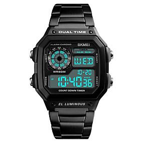 Недорогие Фирменные часы-Муж. Жен. Спортивные часы электронные часы Цифровой На каждый день Защита от влаги Черный / Серебристый металл / Золотистый Цифровой - Розовое золото Черный Золотой / Календарь / Секундомер