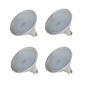 olcso LED szpotlámpák-4db 15 W LED szpotlámpák 1000-1200 lm E26 / E27 75 LED gyöngyök SMD 2835 Vízálló Meleg fehér Fehér 110-240 V