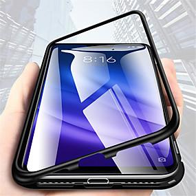 Недорогие Чехлы и кейсы для Huawei Mate-односторонний магнитный чехол для телефона для huawei mate 10 pro / mate 10 lite / huawei mate 20 lite прозрачные чехлы для корпуса сплошного цвета из твердого металла