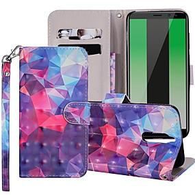 Недорогие Чехлы и кейсы для Huawei Mate-Кейс для Назначение Huawei Mate 10 / Mate 10 lite / Huawei Mate 20 lite Кошелек / Бумажник для карт / со стендом Чехол Геометрический рисунок / Градиент цвета Твердый Кожа PU