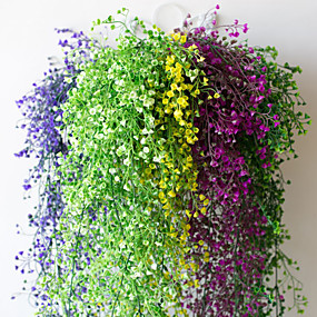halpa Tekokukat-12kpl kukka viiniköynnöksen 72kpl lehtiä 1 pala 2m kodinsisustus keinotekoinen muratti lehtiä valkosipuli kasvi viiniköynnöksen lehti kukka matelija vihreä muratti seppele