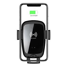 abordables Chargeurs de Voiture-Support de chargeur de voiture sans fil 7.5w / 10w charge rapide support de support de téléphone de ventilation de tableau de bord de chargement automatique / entrée de type c