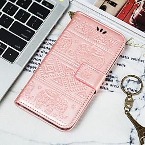 Недорогие Чехлы и кейсы для Galaxy A3(2016)-Кейс для Назначение SSamsung Galaxy A6 (2018) / A6+ (2018) / Galaxy A7(2018) Кошелек / Бумажник для карт / Флип Чехол Животное Мягкий Кожа PU