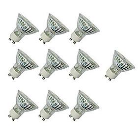 ieftine Spoturi LED-10pcs 4 W Spoturi LED 300 lm GU10 GU10 60 LED-uri de margele SMD 2835 Decorativ Alb Cald Alb Rece 220-240 V
