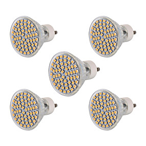 olcso SENCART-YWXLIGHT® 5pcs 6 W LED szpotlámpák 600 lm GU10 60 LED gyöngyök SMD 3528 Dekoratív Meleg fehér Hideg fehér 220-240 V / 5 db. / RoHs