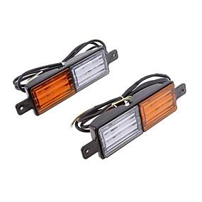 Недорогие Задние фонари-Vehemo wing двухцветные сигнальные огни задние фонари автомобильные задние фонари аксессуары грузовик универсальный автомобиль