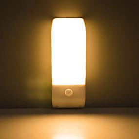 رخيصةأون مصابيح ليد مبتكرة-البير استشعار الحركة بالأشعة تحت الحمراء USB القابلة لإعادة الشحن 12 الصمام ضوء الليل التعريفي الممر خزانة خزانة مصباح الليل أدى USB