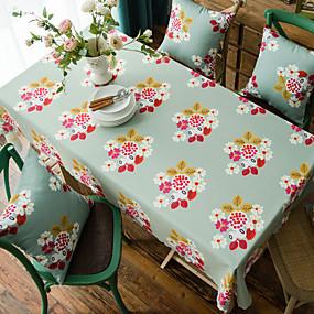 رخيصةأون شرشفات الطاولة-أنتيك ألياف البوليستر مربع قماش الطاولة طبع مقاوم للماء الجدول ديكورات